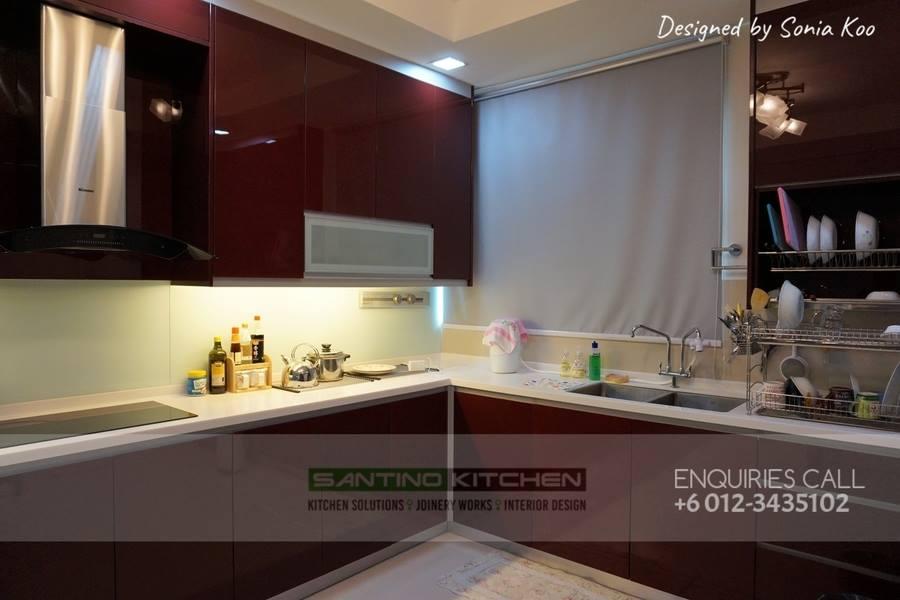 Red And White Kitchen Design Santino Source
