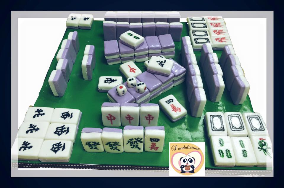 Mahjong set cake
