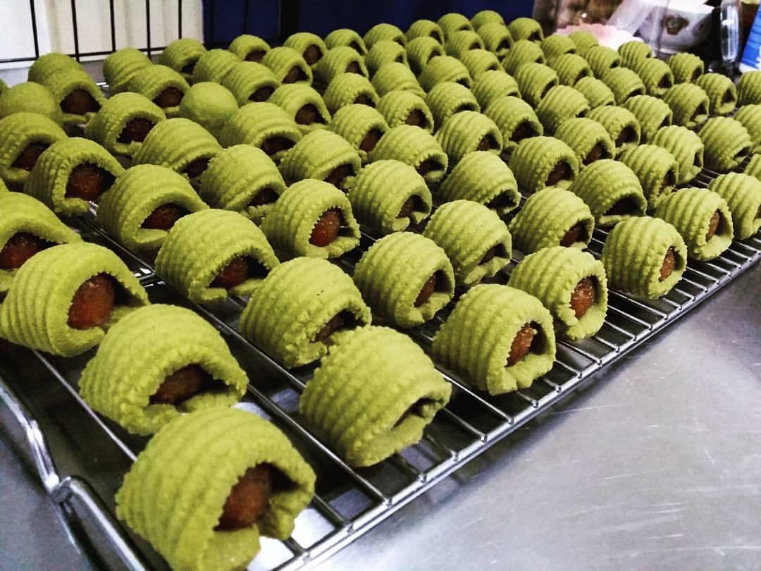 Matcha pineapple tarts
