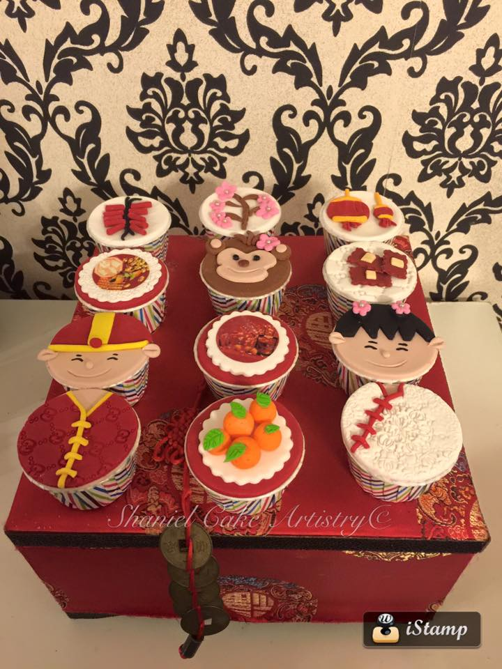 Assorted chinese new year cupcakes