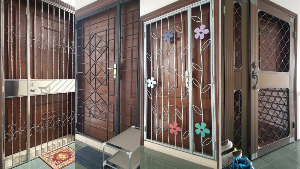 How To Buy Window Grille And Door Grilles In Malaysia Adorable How To Pick A Bedroom Door Lock Minimalist