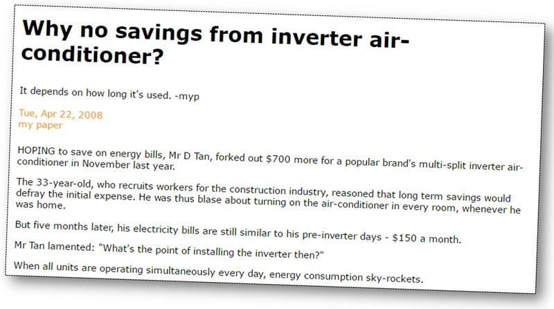 Article about inverter ac energy savings