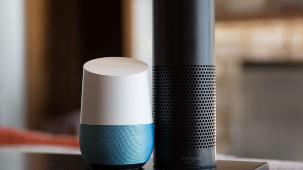 The Amazon Echo and Google Home are smart speakers that have voice recognition. Example of future home malaysia. Source: CNET.com