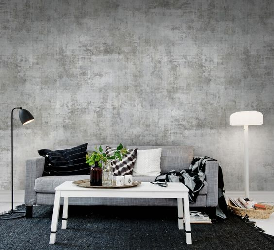 concrete. Source: rebelwalls.com