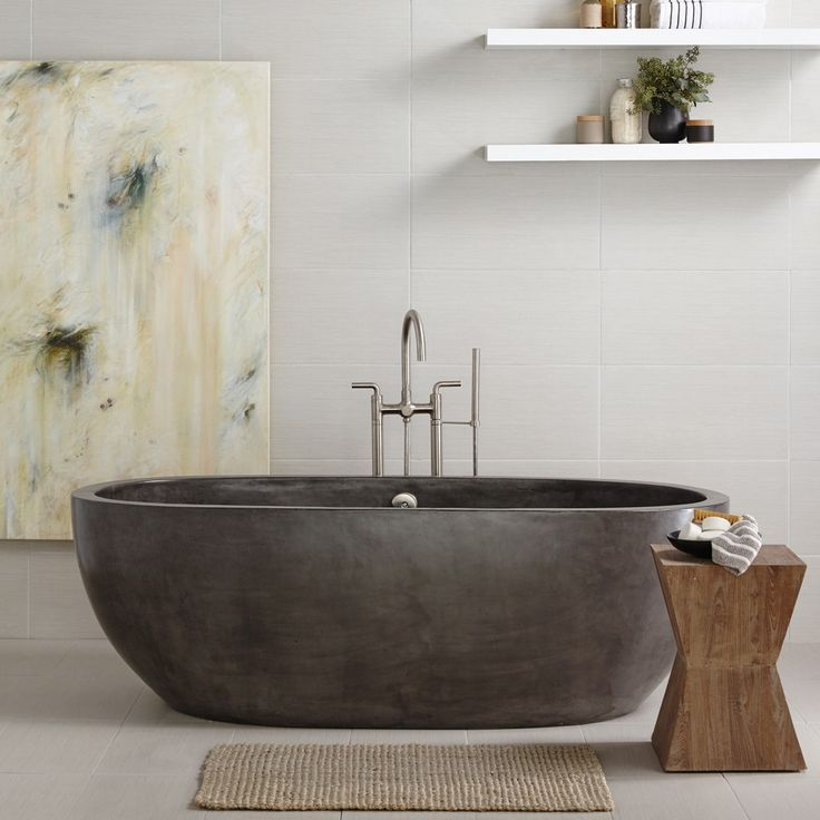 concrete bathtub. Source: pinterest.com/nativetrails