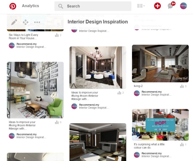 Creating a Pinterest board of interior designs for your home renovation in Malaysia