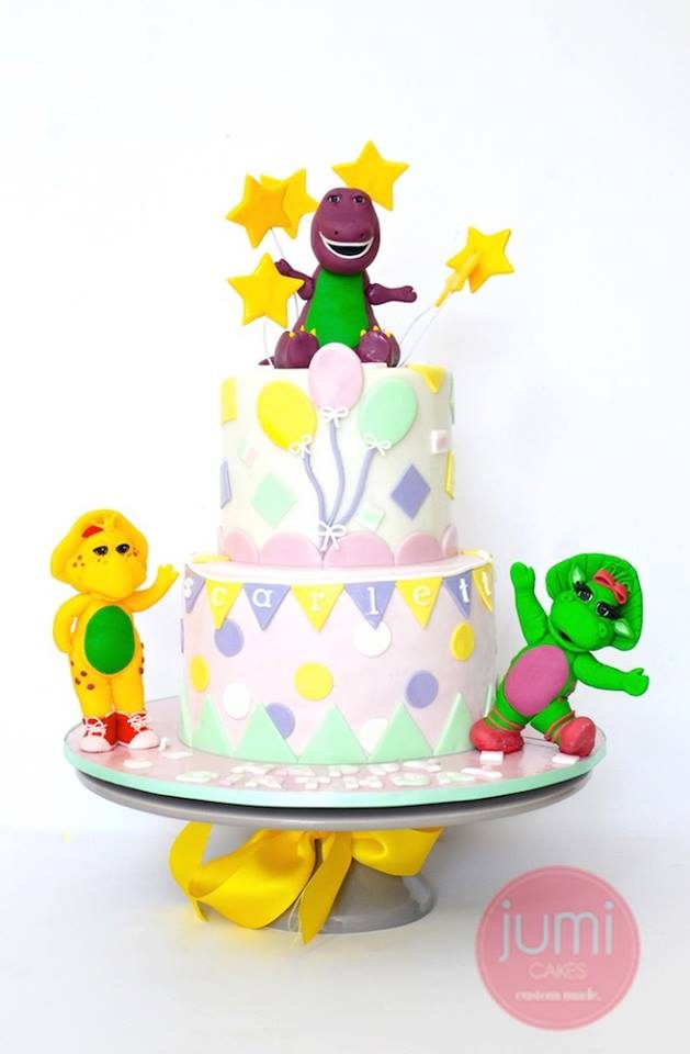 Two-Tier Barney and Friends Cake by Jumi Cakes