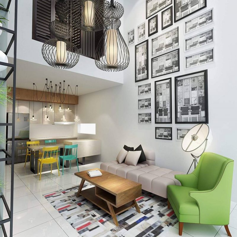 Open space is good for Feng Shui. Design by Icon Interior Design