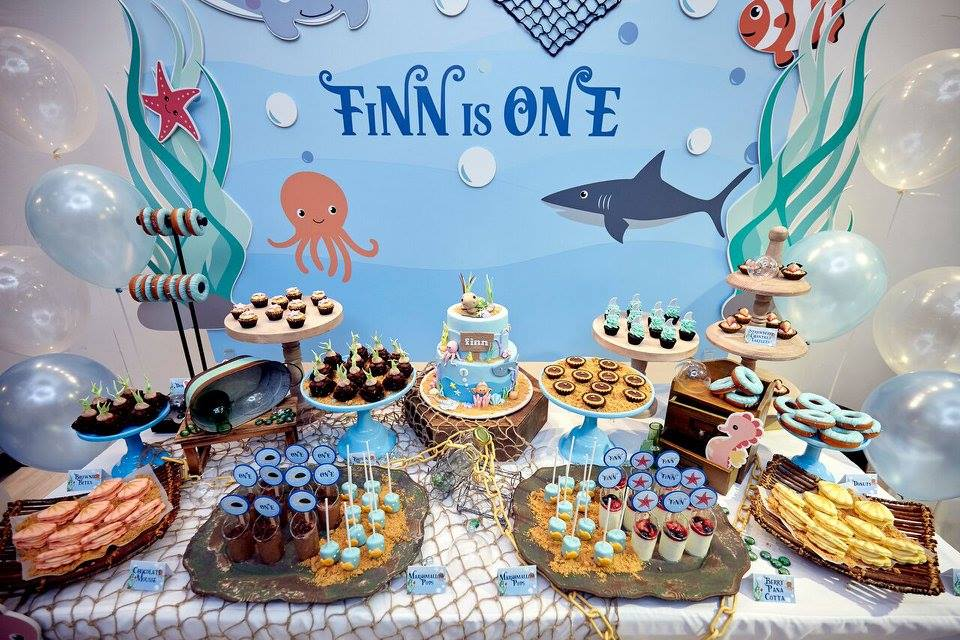 Finn's Under the Sea Dessert Table by Little House of Dreams