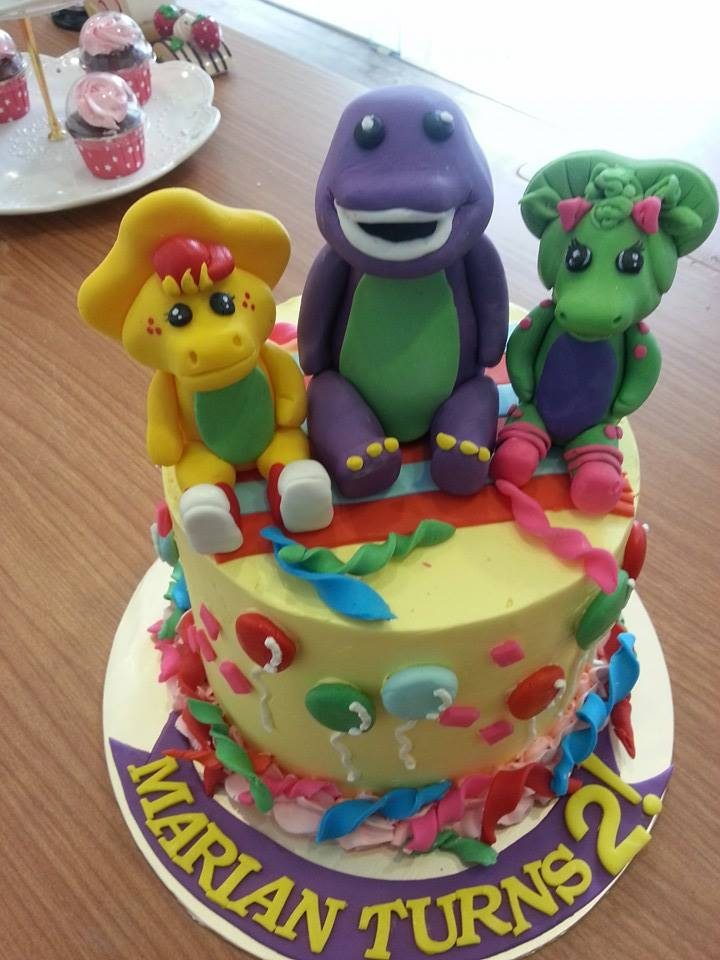 Barney and Friends Cake for 2-year old by My Fat Ladt Cakes and Bakes