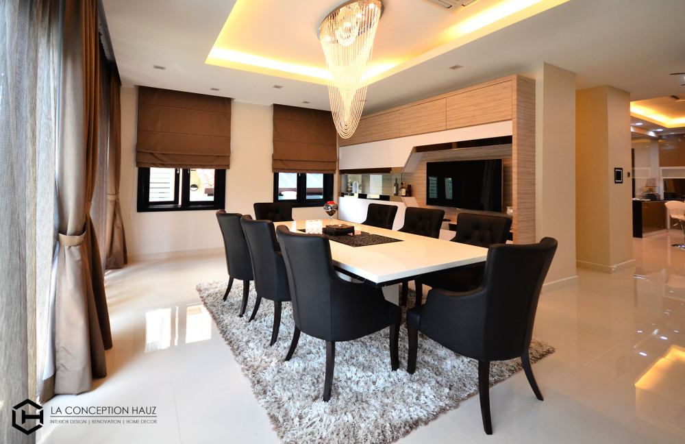 Bungalow interior design in Bevery Heights, Bukit Bintang Project by: La Conception Hauz