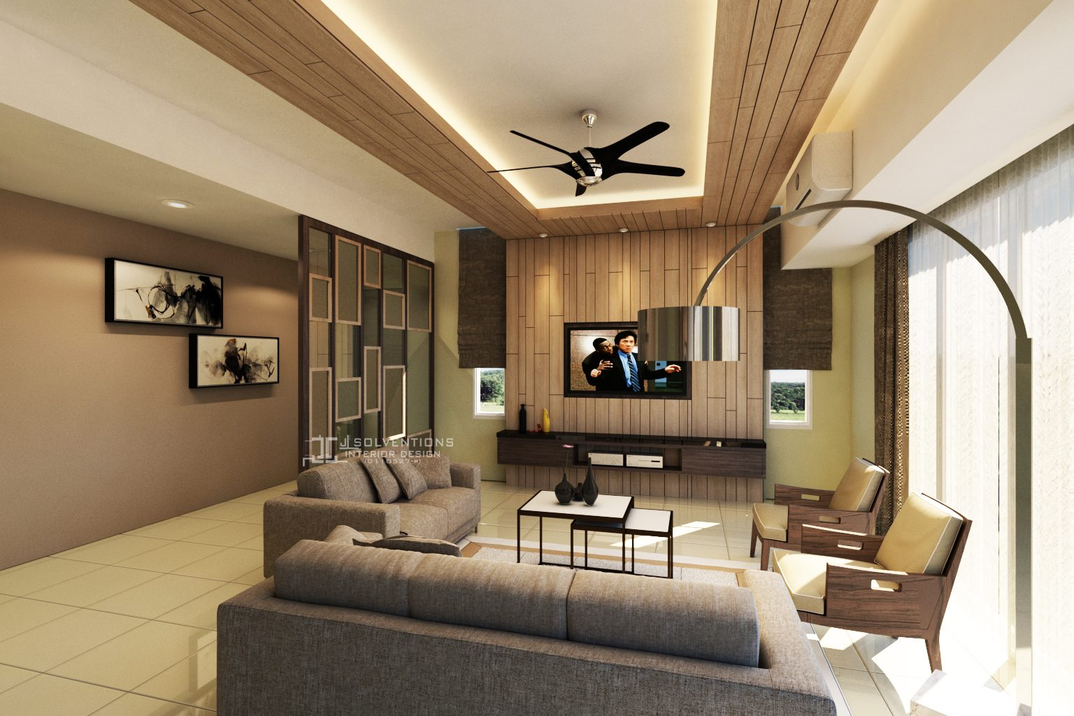 Charmant Concept Home With Wood Cove Ceiling. Project By: J Solventions Interior  Design