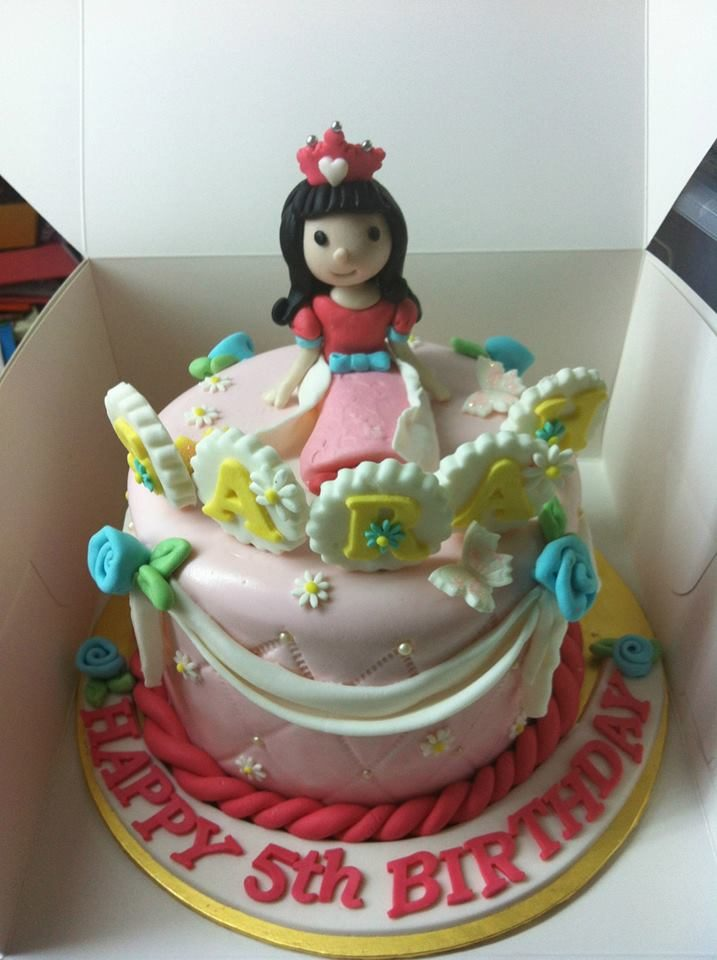 Princess Themed Cake For 5 Year Old Made By My Fat Lady