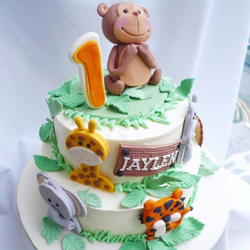 Jungle animals cake by Corine & Cake