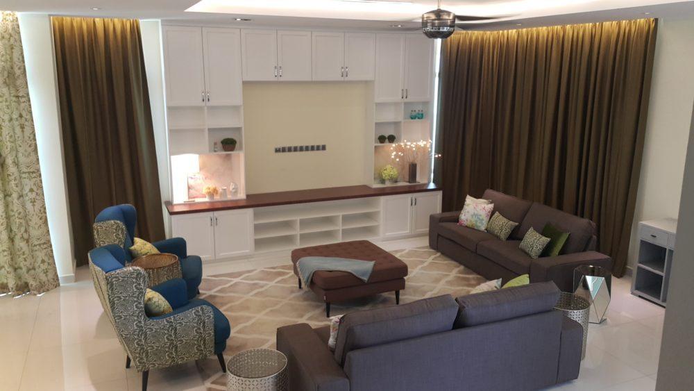 Home in Taman Danai Duta. Project by: bonnieblue-furniture-interiors