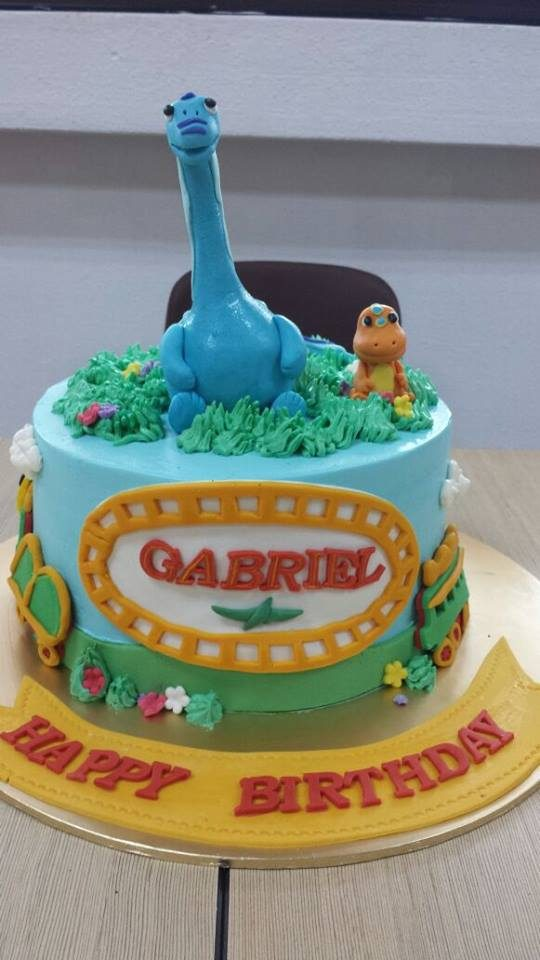 Dinosaur Train Themed Cake With Buddy the T-Rex by My Fat Lady Cakes and Bakes