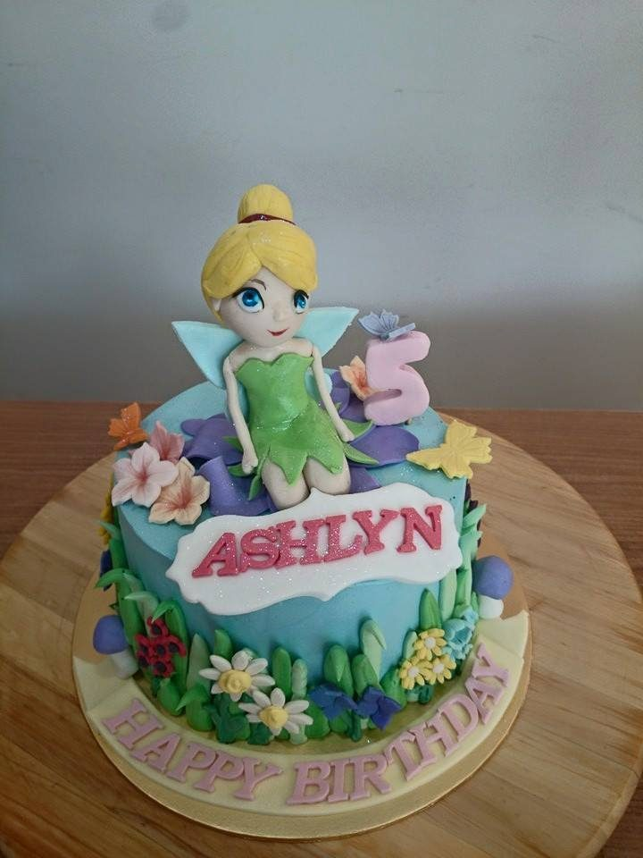 Tinkerbell cake with garden setting. Made by: My Fat Lady Cakes and Bakes. Order in Singapore at Recommend.sg
