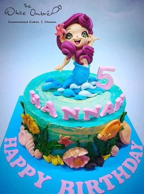 The little mermaid birthday cake. Great undersea details!Made by: The white ombre. Order in Singapore at Recommend.sg