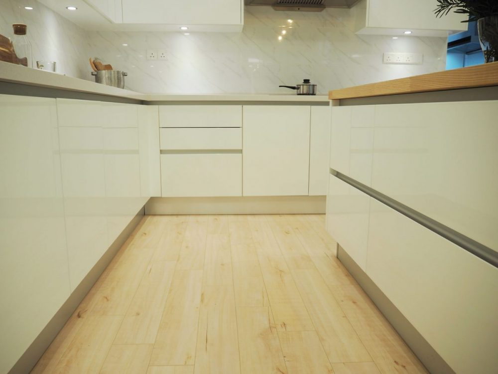 If you use the kitchen frequently, you may want to install vinyl flooring as it is softer on your feet