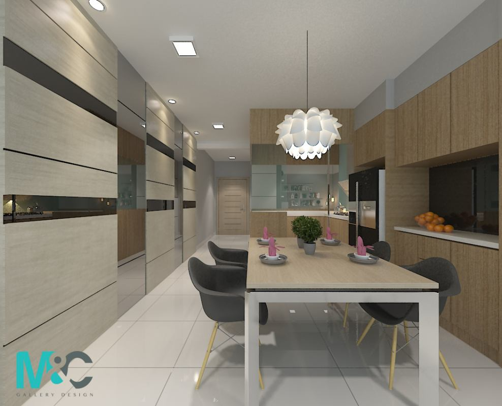 Condominium in The Leafz, Sungai Besi by M&C Concept Design