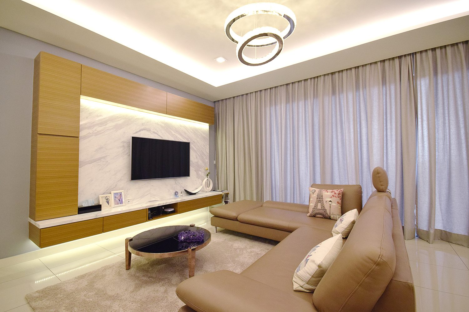 Condominium in Windows On The Park, KL. Project by: Hatch Design