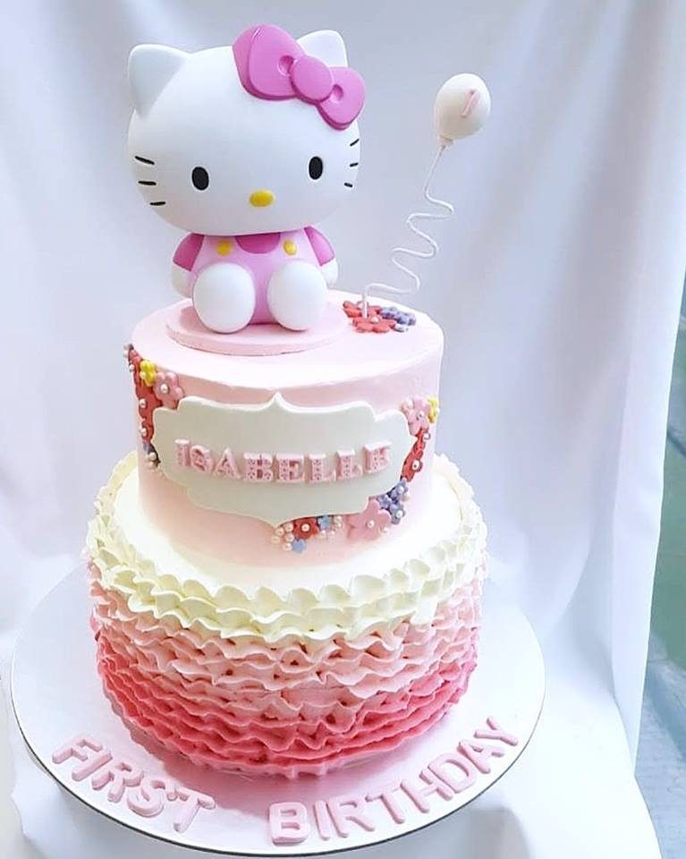 Super 21 Hello Kitty Cake Designs For Your Daughters Birthday Funny Birthday Cards Online Inifodamsfinfo