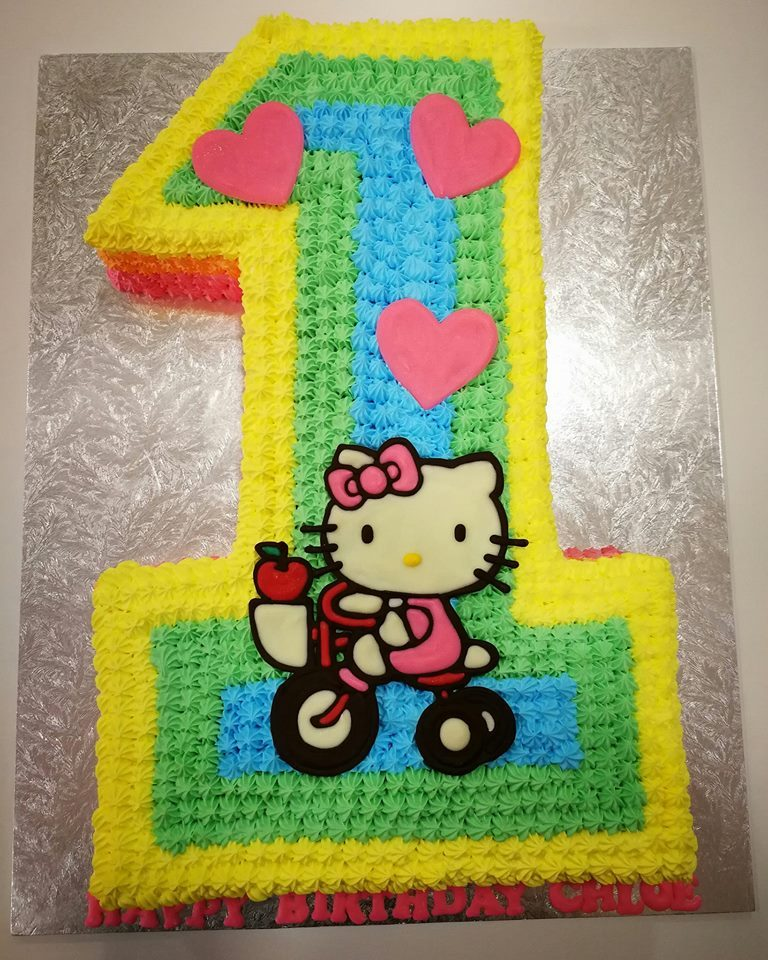 Celebrate your baby girl's first birthday with a number 1 cake. Made by: Naomi Kitchen. Source