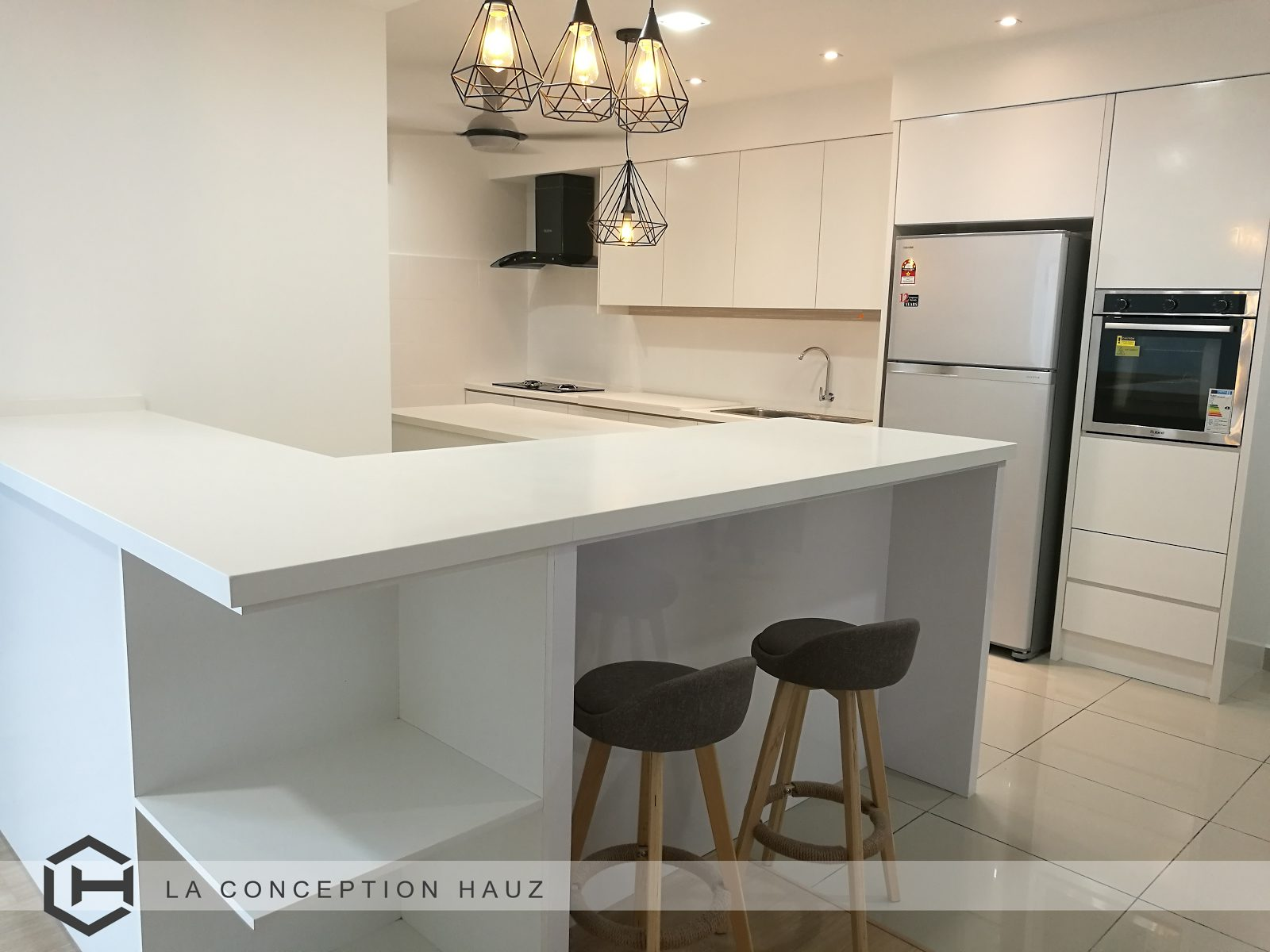 Kitchen Design For Inium In Usj 1 Subang Jaya Project By La Conception