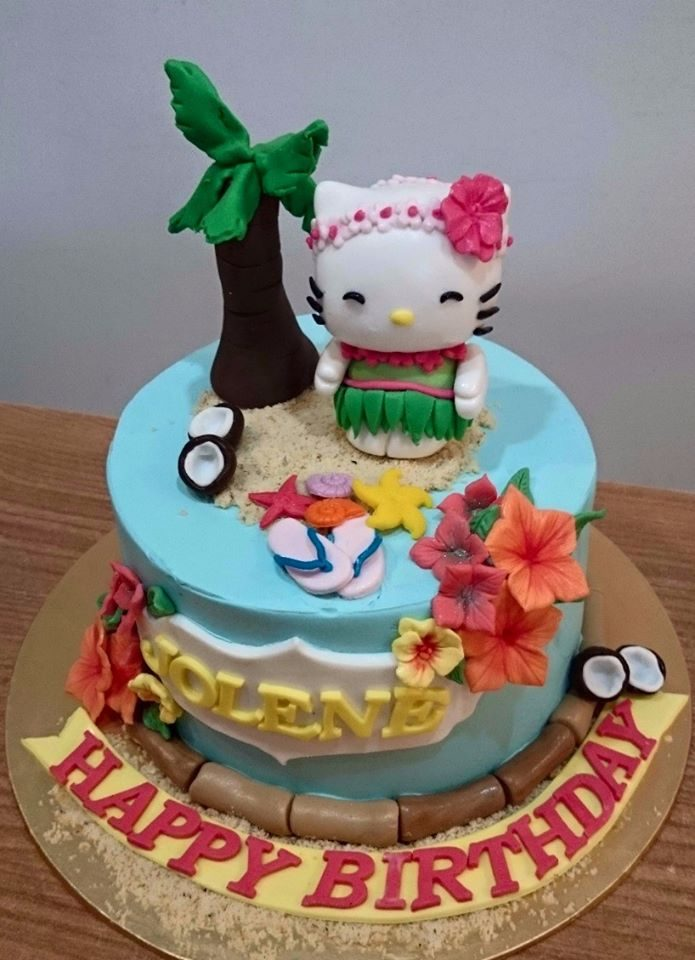 So You Want A Hello Kitty Cake For Beach Themed Birthday Party No Problem