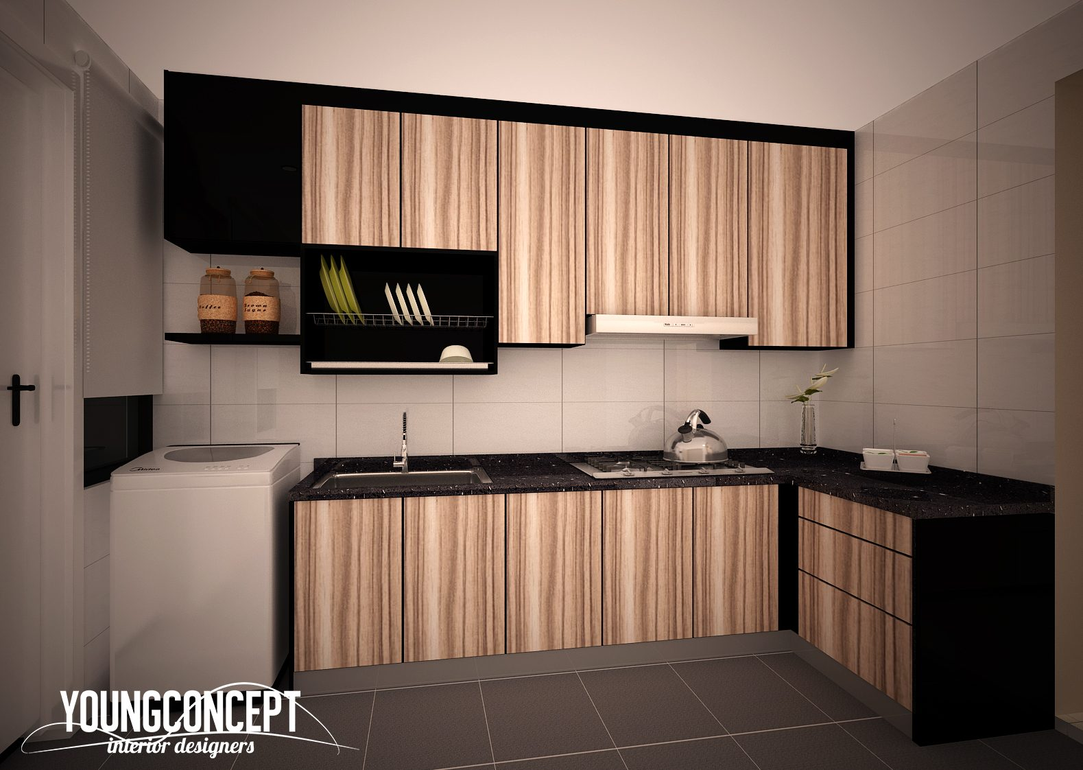 Kitchen Design. Small Kitchen Design Condominium In Putra Prima, Puchong.  Project By: