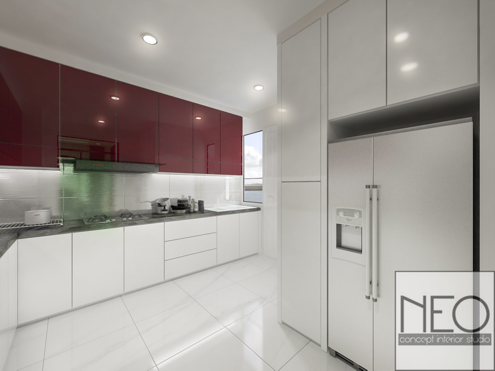 Semi-Detached House in Taman Sutera, Kajang. Project by: Neo In Design