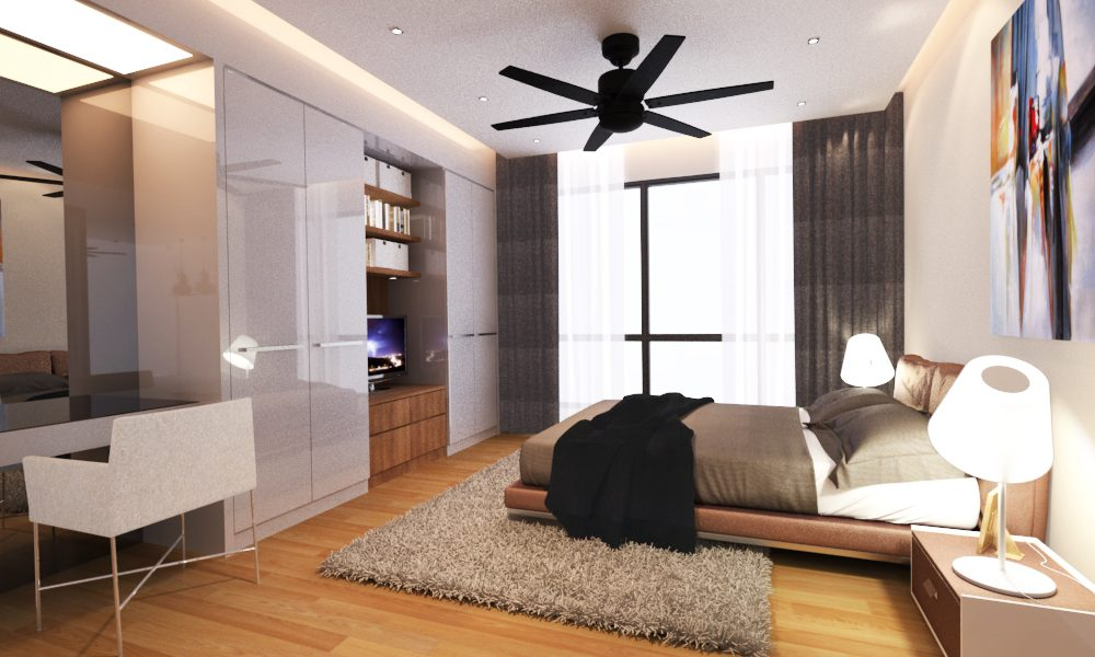 Platform Bed Concept for Master Bedroom. Project by: Urban Structure Construction