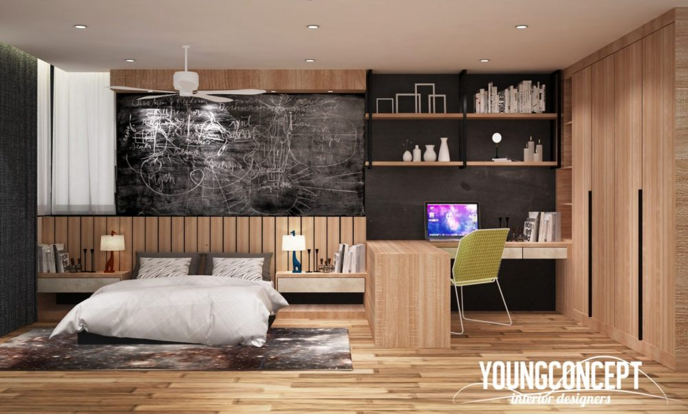 Semi-D House in Old Klang Road. Project by: Young Concept Design