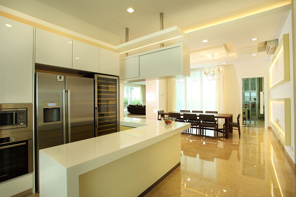 wet and dry kitchen design. Dry Kitchen design for Bungalow in Mont Kiara  Project by Hatch Design 50 Malaysian Designs and Ideas Recommend LIVING