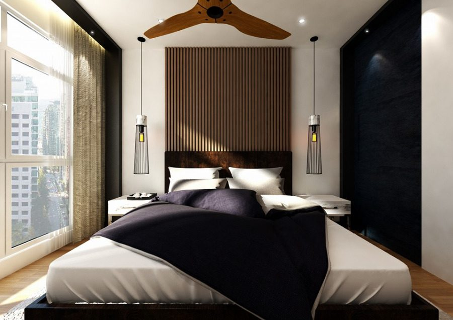 A full bed that fills the room proportionally. Project by: Grov Design Studio