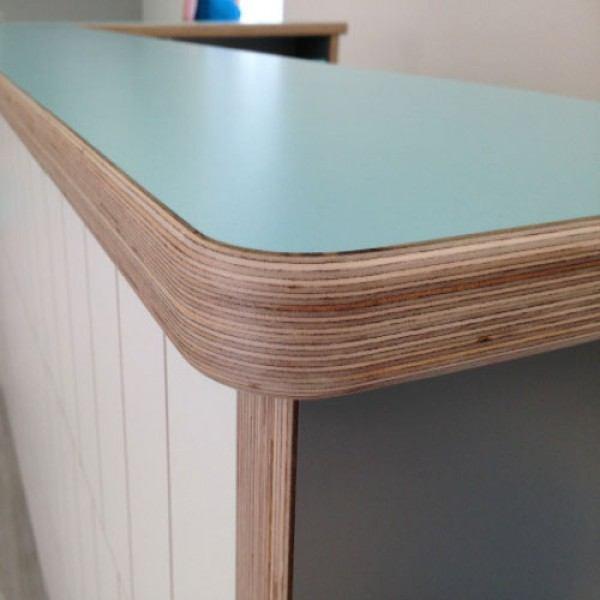 Laminated plywood counter. Source: morland-uk.com