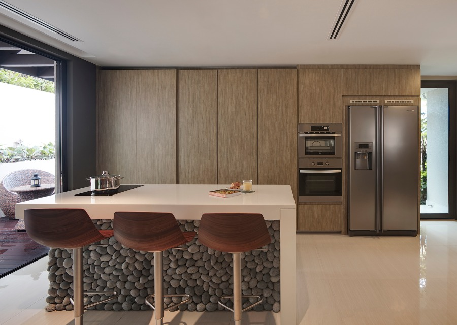 Completed kitchen in Siglap, Singapore by ZADC Studio