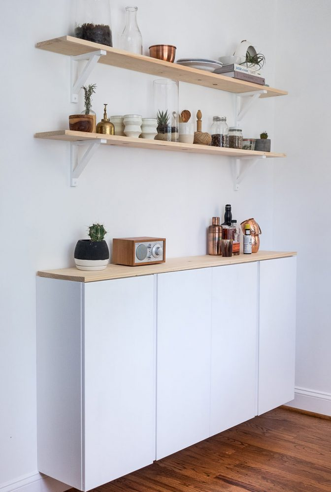 cabinets are another brilliant ikea kitchen hacks around that can create more storage space