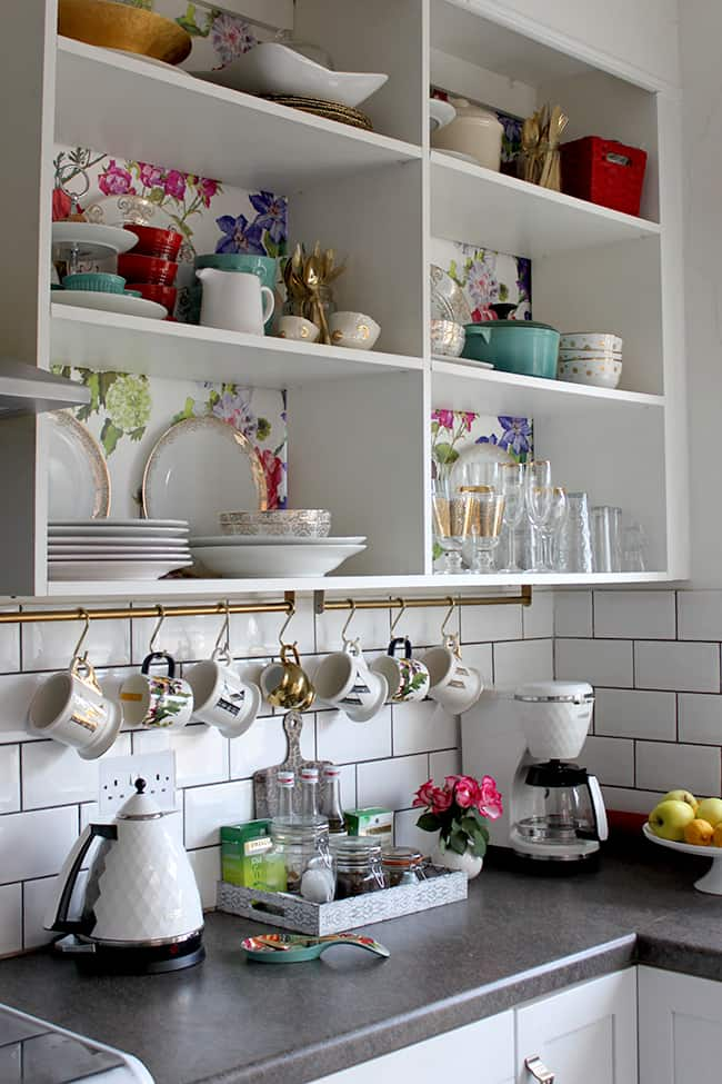 simple and easy. how you can hack your shower rail into hanging your mugs