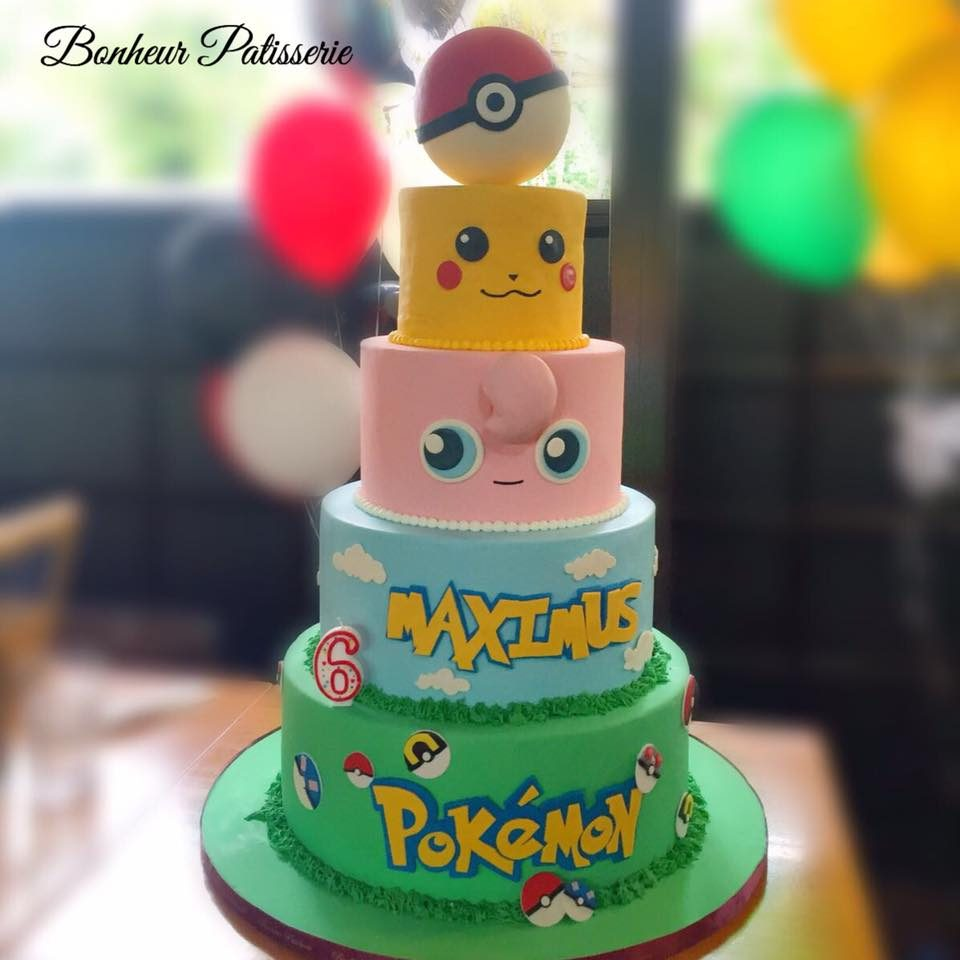Excellent 11 Pokemon Themed Cakes For Your Kids Birthday Recommend My Personalised Birthday Cards Bromeletsinfo