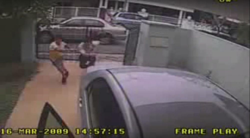 CCTV camera footage of robberies in Malaysia