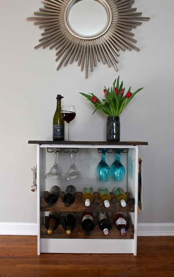 a wine drawer is one of the more brilliant ikea kitchen hacks around