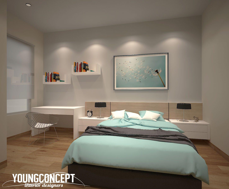 Scandinavian-inspired bedroom for this double-storey house in Semenyih