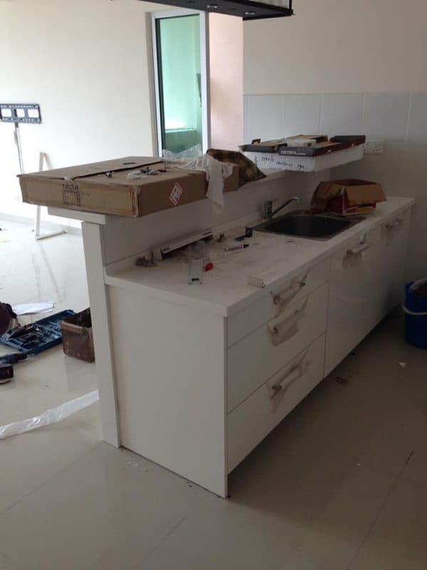 Kitchen cabinet installation by J Home Format. Source