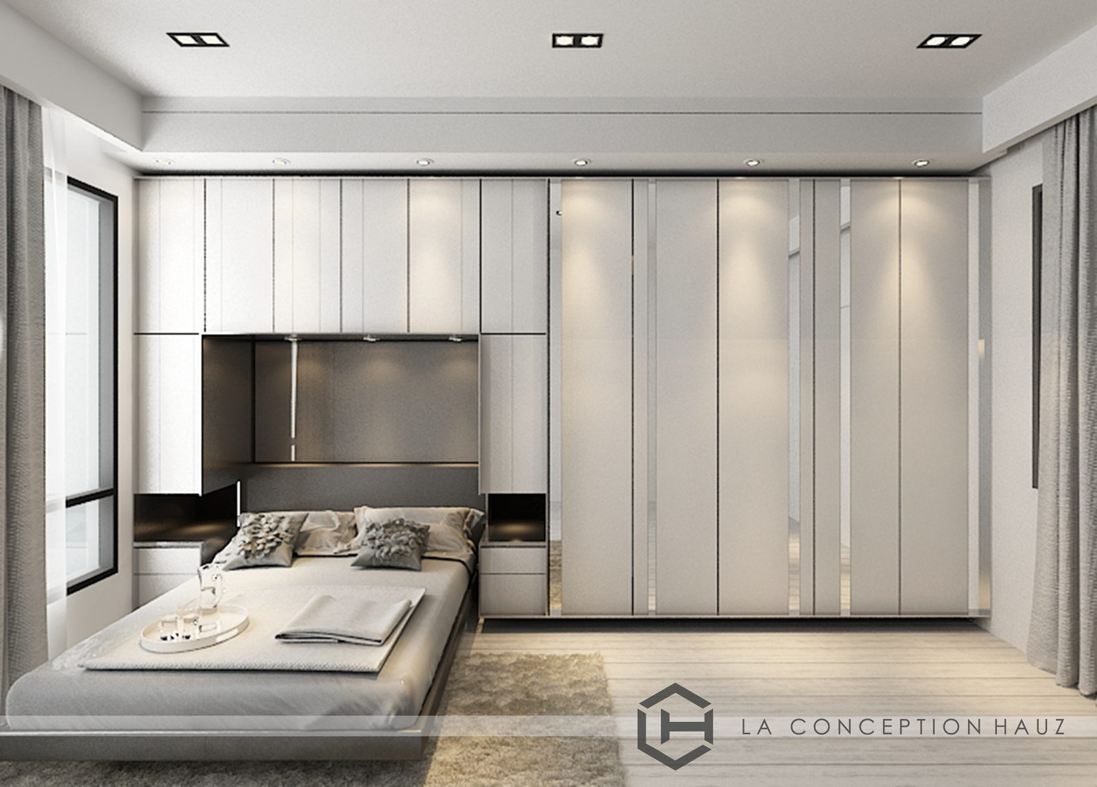 Wall-to-wall wardrobe for this condominium in Rimba Residence, Puchong