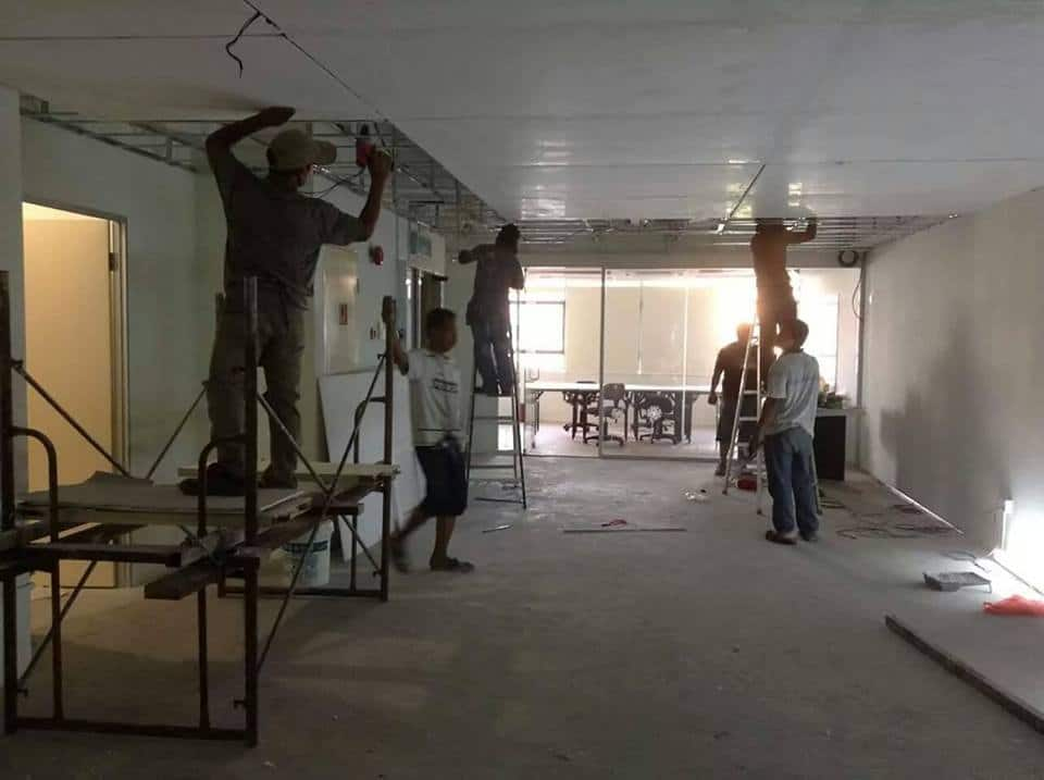 Ceiling works being done by Cool Ace Renovation & Maintenance Services - home improvement pro on Recommend.my