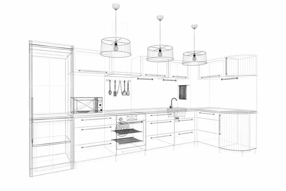 3D Wireframe for Interior Design