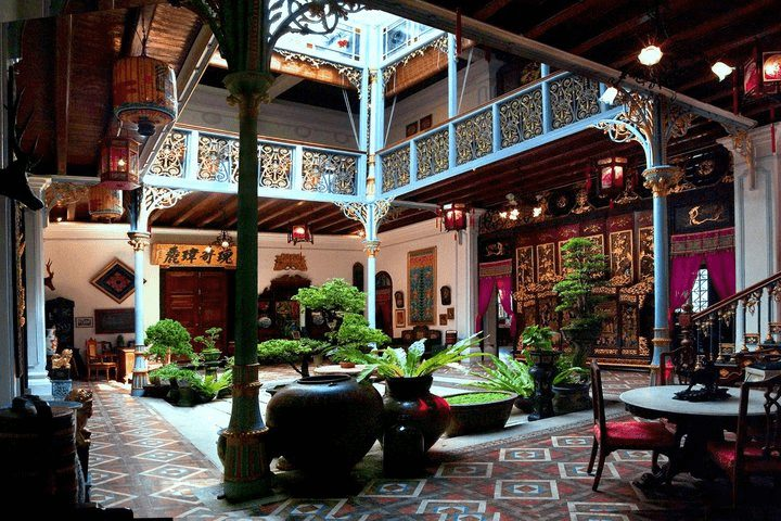 Above: Inner courtyard at the Peranakan Mansion in Penang.