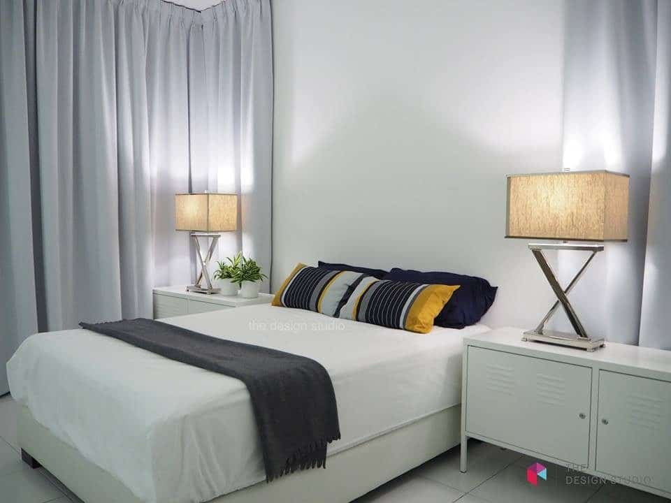 Monochrome bedroom for M Residence at Rawang