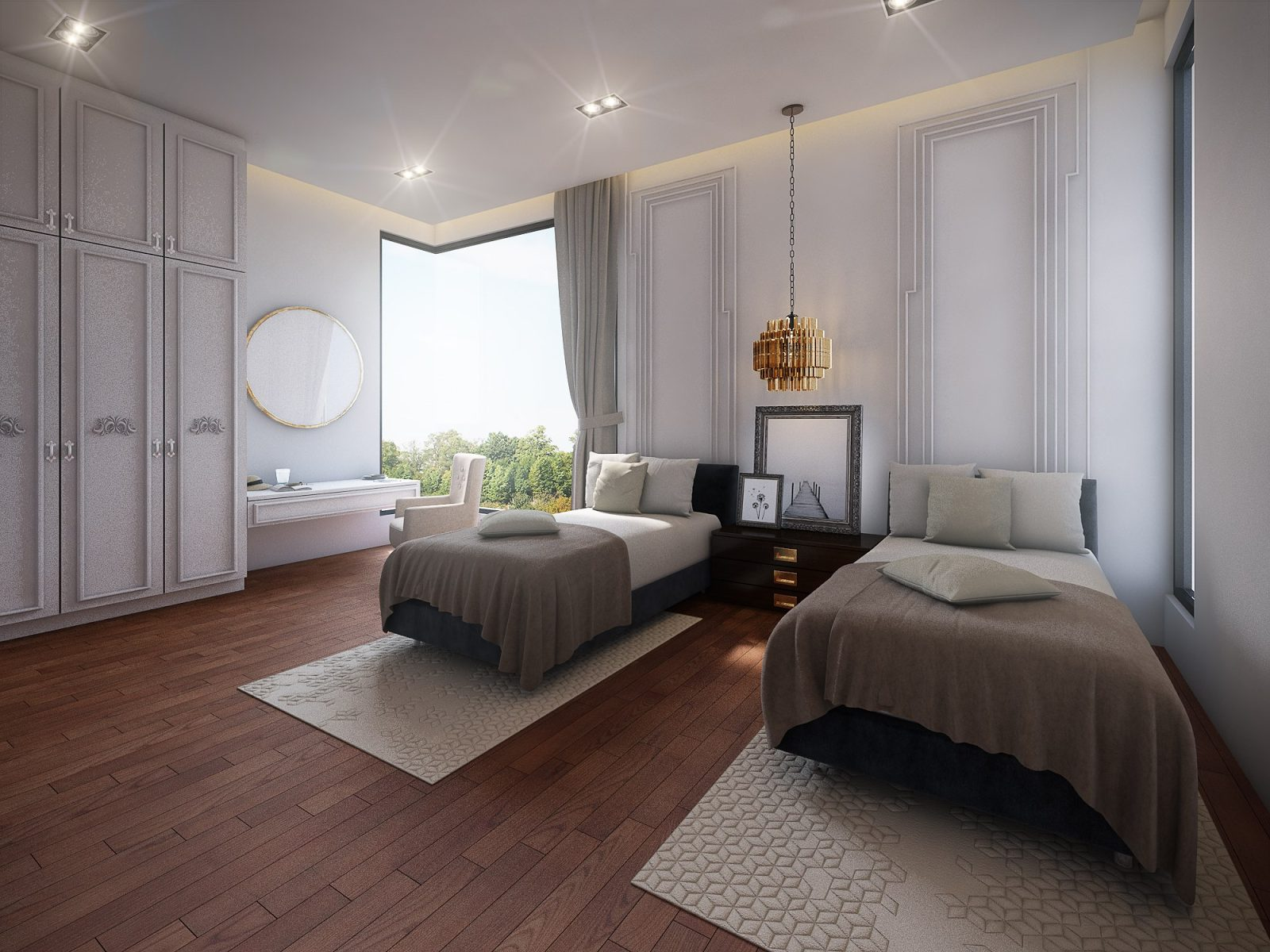 Modern European inspired bedroom in Shah Alam